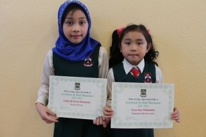 Sisters Aaliya and Ayeesha didn't miss a day in the last school year.